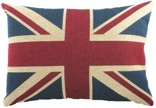 Evans Lichfield Union Jack - Cuscino con bandiera inglese, imbottitura in poliestere, ca. 45,7 x 33