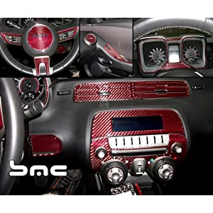 buy chevrolet camaro automatic interior main dash trim kit red black carbon fiber w floor. Black Bedroom Furniture Sets. Home Design Ideas