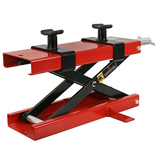 Zeny 1100 LB Wide Deck Motorcycle Center Scissor Lift Jack Hoist Stand Bikes ATVs (#01) (Motorcycle Side Lift compare prices)