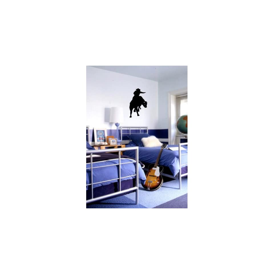 Cowboy Bull Rider   Vinyl Wall Art Decal Sticker Decor   Western