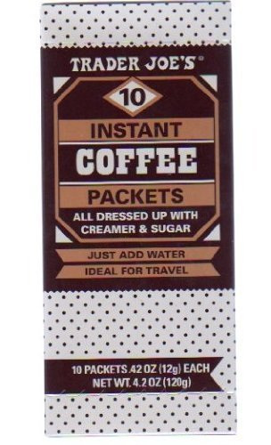 Trader Joe'S Instant Coffee Packets W. Creamer & Sugar (10 Packets, 1 Box) By Trader Joe'S [Foods]