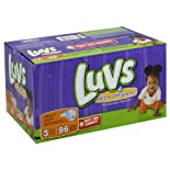 Luvs Diapers, Ultra Leakguards, Size 3 (16-28 lb) 96 diapers