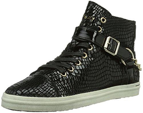 REPLAY Coin, Sneaker alta Donna, Nero (Schwarz (BLACK 3)), 39