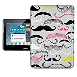 Hipster Neon Mustaches Tablet Hard Shell Case for iPad, Kindle, Samsung Galaxy, Nexus & more - Samsung Galaxy Tab 2 10.1in P5100