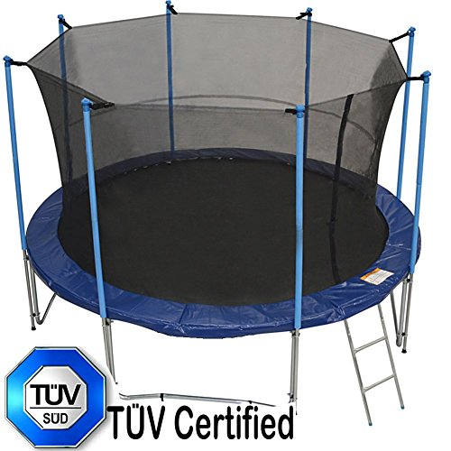 Zupapa-12-Ft-TUV-Approved-Trampoline-with-Pole-and-Enclosure-Inside-Net-and-Safety-Pad-and-Ladder-and-Jumping-Mat-and-Rain-Cover-72-springs-include-T-hook