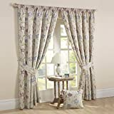 Rectella 66 x 90-Inch Canterbury Curtains, Lavender