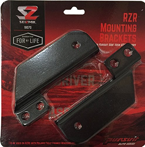 Seizmik 18070 Pursuit Mirror Mounts extension brackets for RZR 900s/ 1000 (Polaris Windshield Bracket compare prices)