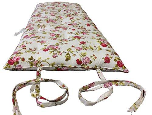 Brand New Full Size Rose White Traditional Japanese Floor Futon
