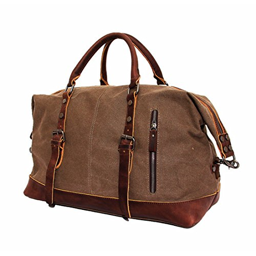 03. CLELO B305 Casual Canvas Weekender Gym Bag Travel Duffle Bag