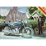 The Vicar and the Velocette (greetings card)by Rothbury Publishing