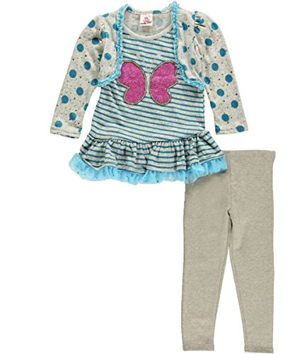 "Real Love Little Girls' ""Glitter Bug"" 2-Piece Outfit"