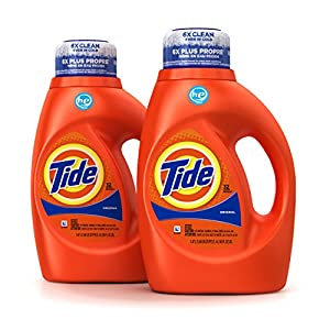 Tide Original Scent HE Turbo Clean Liquid Laundry Detergent, 50 Fl Oz