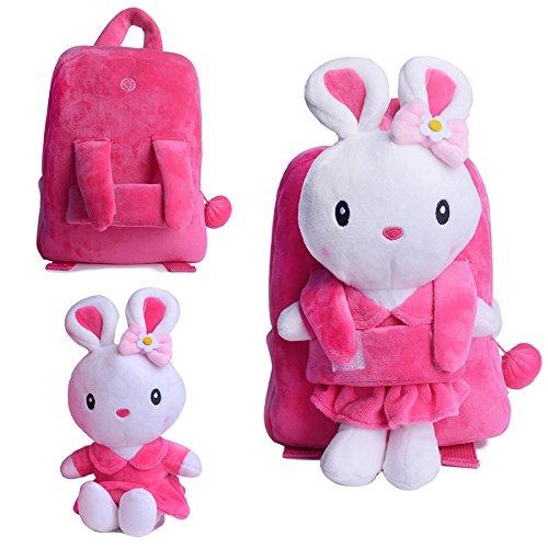 Gloveleya-Bunny-Rabbit-Plush-Kids-Backpack-Shoulder-Bags-8-for-Kids-Under-5-Years-Old