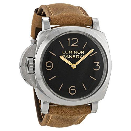 panerai-homme-bracelet-cuir-marron-boitier-acier-inoxydable-mecanique-cadran-noir-montre-pam00557