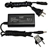 HQRP Replacement AC Adapter / Charger for Canon ZR70MC, ZR700, ZR65MC, ZR60 Digital Camcorder with USA Cord & Euro Plug Adapter