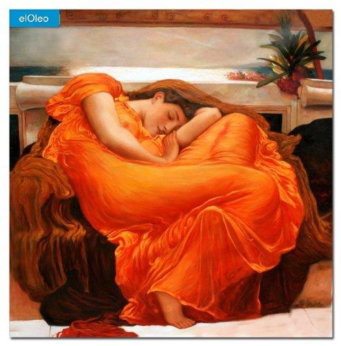 elOleo Lord Frederick Leighton – Flaming June 120×120 Gemälde auf Leinwand handgemalt 83664A – in Museumsqualität jetzt kaufen