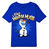 Frozen Little Boys' Olaf I Like Warm Hugs T-shirt Royal Blue