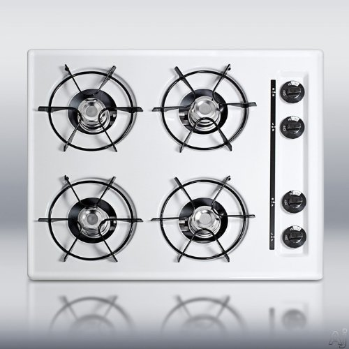 SUMMIT WTL03 is a 24 inch wide cooktop in gas with pilot lights. Made in USA5