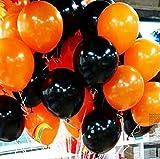 【MUSE】ハロウィン バルーン 風船 飾り 装飾 空気入れ セット (パンプキン100個+ブラック100個【空気入れなし】)