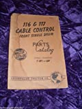 img - for Caterpillar 116 & 117 Cable Control OEM Parts Manual book / textbook / text book