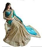 Green Georgette embroidery Work Saree with Blouse