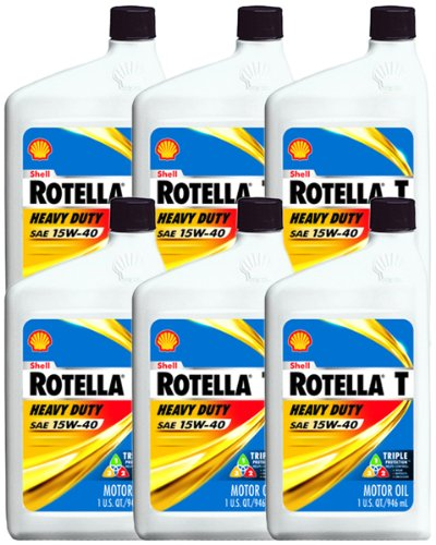 Shell Rotella 15W40 Motor Oil (6 Pack) (Motor Oil Shell 15w40 compare prices)