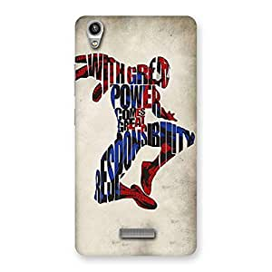 Stylish Power And Responsibility Multicolor Back Case Cover for Lava-Pixel-V1