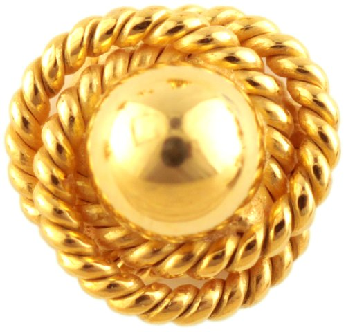 Nose Stud with Knotted Rope - 18 K Gold