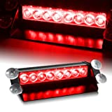 Econoled Red Generation 3 LED Law Enforcement Use Strobe Lights For Interior Roof / Dash / Windshield