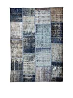 HF LIVING Alfombra Vintage Patchwork (Azul)