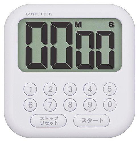 DRETEC 大画面タイマー 【シャボン 10 】 ホワイト T-544 WT