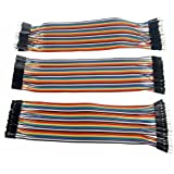 Foxnovo Female Wire Cables 40-pin Male to Male /Female to Female /Male to Female Breadboard Jumper Wires Ribbon Cables Kit 3pcs/lots