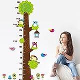 Amazon.co.jpRainbow Fox フクロウサルツリー子どもフィート取り外し可能な壁のステッカー壁紙