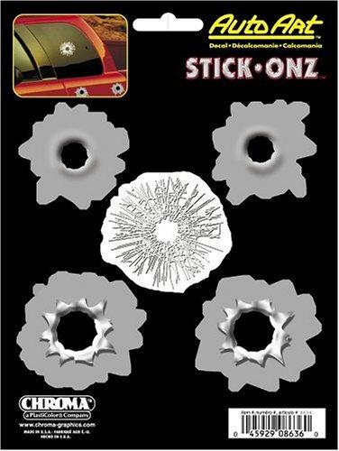 Chroma 8636 Bullet Holes Vinyl Stick Onz Decal