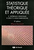 Statistique thorique et applique : Tome 2, Infrence statistique  une et  deux dimensions