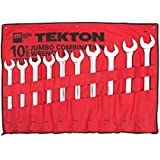 TEKTON 19621 MaxTorq Jumbo Combination Wrench Set, SAE, 10-Piece