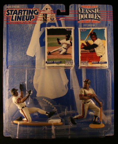 BARRY BONDS / SAN FRANCISCO GIANTS & BARRY BONDS SR. / SAN FRANCISCO GIANTS 1997 MLB Classic Doubles * Winning Pairs Series * Starting Lineup Action Figures & Exclusive Collector Trading Cards