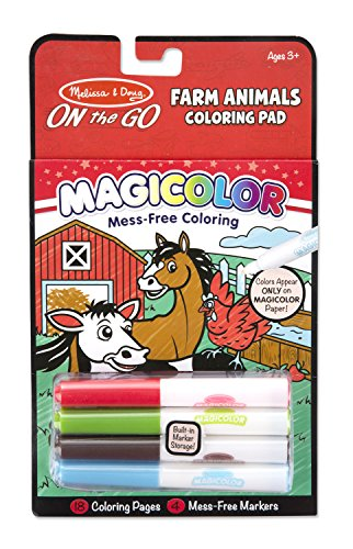Melissa & Doug On The Go Magicolor Coloring Pad - Farm Animals