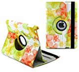 Ruban Fabulous A style flower 360 degree rotating case for iPad4, ipad 3, ipad2, Multi-Function PU Leather Stand Case / Cover, With super Auto Sleep Wake Function (FOR IPAD4/3/2, #Flower-Green)