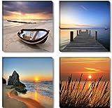 Visario Leinwandbilder 6608 Bild auf Leinwand Natur, 4 x 30...