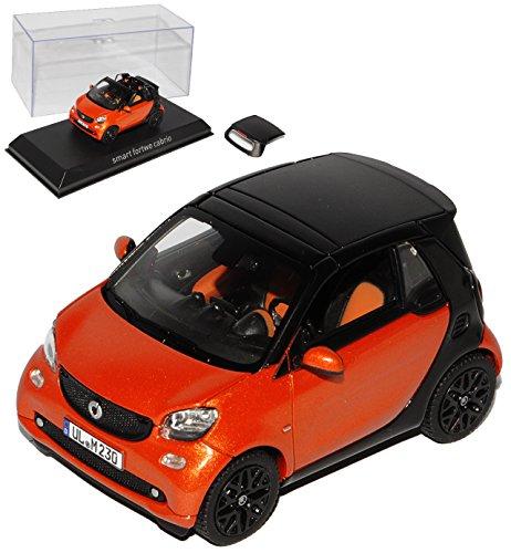smart-fortwo-cabrio-a453-orange-mit-schwarz-ab-2015-1-43-norev-modell-auto-mit-individiuellem-wunsch