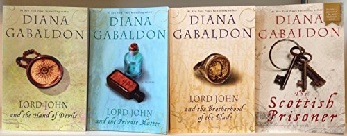 Diana Gabaldon Lord John Series Complete Set [Lord John and the Private Matter, The Brotherhood of the Blade, The Hand of the Devil, and The Scottich Prisoner] Outlander Series Author