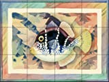 Valentini Mimic Antique by Paul Brent Tile Mural for Kitchen Backsplash Bathroom Wall Tile Mural