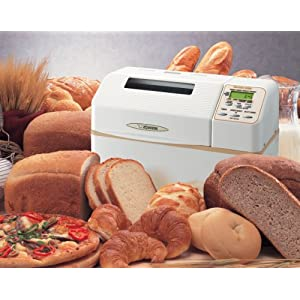 Zojirushi BB-CEC20WB Home Bakery Supreme 2-Pound-Loaf Breadmaker, White