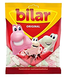 Ahlgrens Bilar ORIGINAL - Swedish - Chewy - Marshmallow Cars - Candy - Sweets - Bag 125g - NEW DESIGN