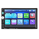 Universal 7Inches 2 DIN Car MP5 player, Ruhiku GW Bluetooth Car Stereo Audio Touch Screen In-Dash Aux Input Receiver SD/USB MP5 Player with Wireless Remote Control