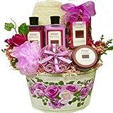 Mums English Rose Spa Bath and Body Gift Basket Set
