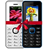 #8: I KALL 4.57 cm (1.8 Inch) Mobile Phone Combo - K66 (White & Blue)