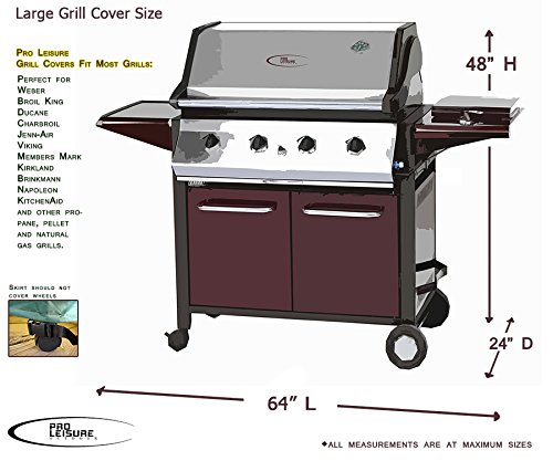 Kitchen Appliance Accessories: Professional Grade Heavy Duty BBQ Grill Cover By Pro