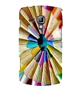 Vizagbeats Color Pencils Cirular Shape Back Case Cover for Samsung Galaxy S Duos 7562 SDuos756200F